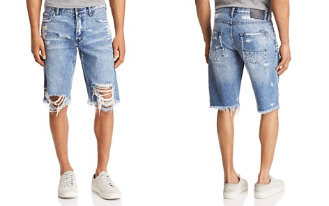 PRPS Goods & Co. Regular Fit Destroyed Jean Shorts - Bloomingdale's_2
