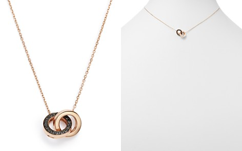 Bloomingdale's Black Diamond Linked Pendant Necklace in 14K Rose Gold, 0.09 ct. t.w. - 100% Exclusive _2