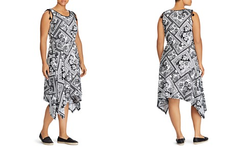 Lauren Ralph Lauren Plus Printed Handkerchief-Hem Midi Dress - Bloomingdale's_2