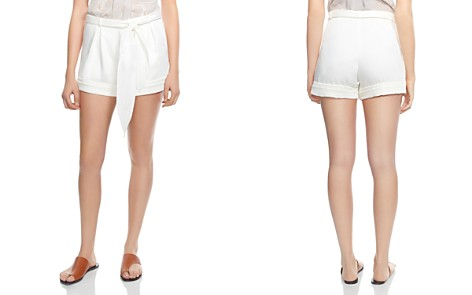 HALSTON HERITAGE Tie-Waist Sateen Shorts - Bloomingdale's_2