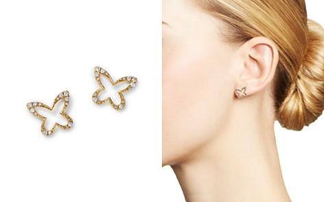 KC Designs 14K Yellow Gold Butterfly Diamond Earrings - Bloomingdale's_2