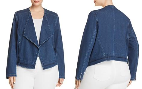 Lyssé Plus Alana Drape Front Denim Jacket - Bloomingdale's_2