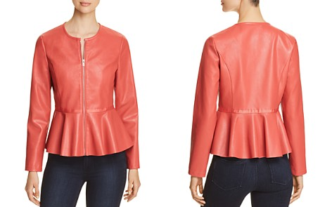 Bagatelle Perforated Faux-Leather Peplum Jacket - Bloomingdale's_2