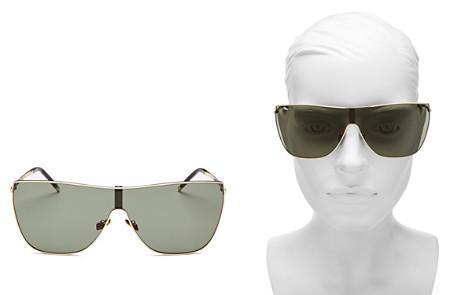 Saint Laurent Women's Mask Rectangular Shield Sunglasses, 99mm - Bloomingdale's_2