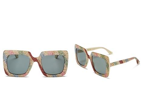 Gucci Glitter Rectangular Sunglasses, 53mm - Bloomingdale's_2