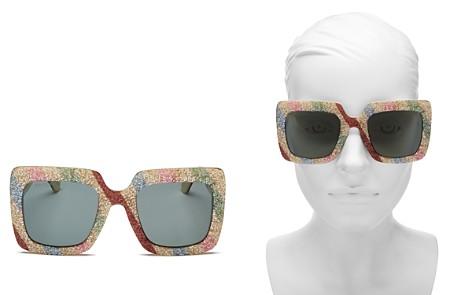 Gucci Women's Glitter Rectangular Sunglasses, 53mm - Bloomingdale's_2