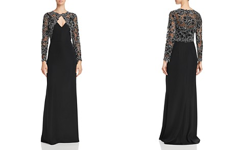 Tadashi Shoji Lace Overlay A-Line Gown - Bloomingdale's_2