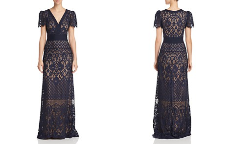 Tadashi Shoji Lace-Overlay Gown - Bloomingdale's_2