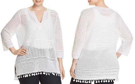 NIC+ZOE Plus Right On Track Crochet Tunic - Bloomingdale's_2