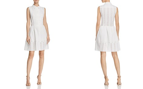 AQUA Eyelet Shirt Dress - 100% Exclusive - Bloomingdale's_2