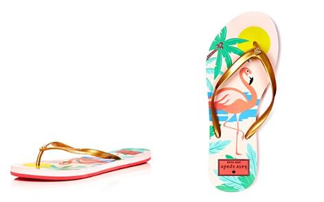 kate spade new york Women's Nassau Pearlized Flip-Flops - Bloomingdale's_2