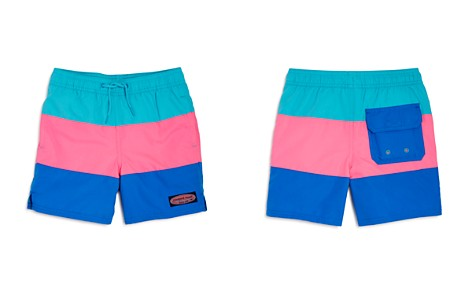 81a8ed3b83cca1 Vineyard Vines Boys  Color-Block Swim Trunks - Little Kid