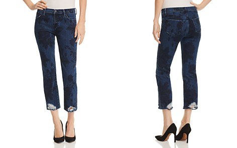 J Brand Selena Mid Rise Crop Bootcut Jeans in Cotillion - Bloomingdale's_2