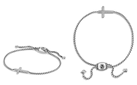 David Yurman Petite Pavé Cross Bracelet with Diamonds - Bloomingdale's_2