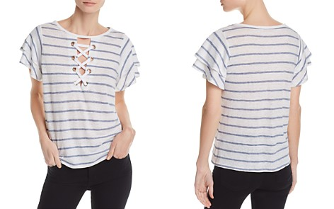 Generation Love Kiki Lace-Up Striped Tee - Bloomingdale's_2