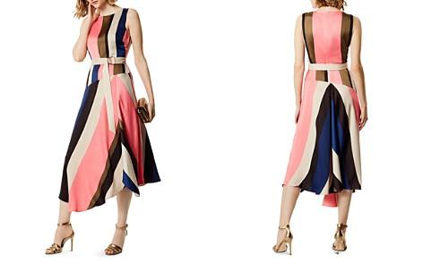 KAREN MILLEN Asymmetric Striped Midi Dress - Bloomingdale's_2