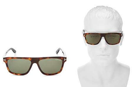 Tom Ford Men's Cecilio Flat Top Square Sunglasses, 56mm - Bloomingdale's_2