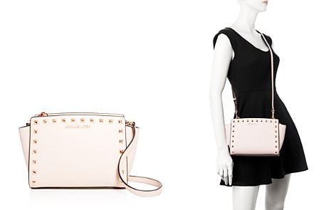 MICHAEL Michael Kors Selma Studded Embossed Leather Medium Crossbody - Bloomingdale's_2