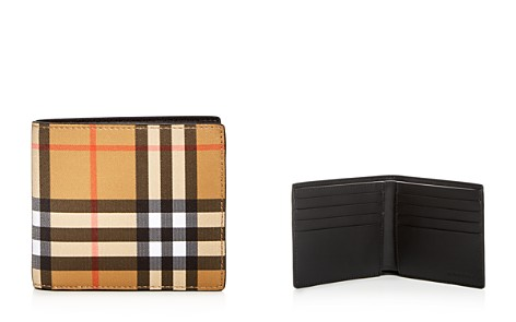 Burberry Vintage Check Leather Bi-Fold Wallet - Bloomingdale's_2