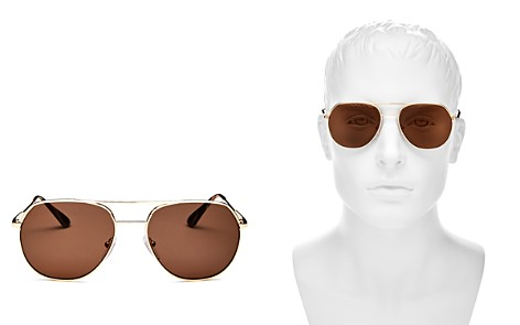 Prada Men's Brow Bar Aviator Sunglasses, 57mm - Bloomingdale's_2