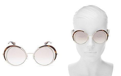 MARC JACOBS Women's Mirrored Round Sunglasses, 51mm - Bloomingdale's_2