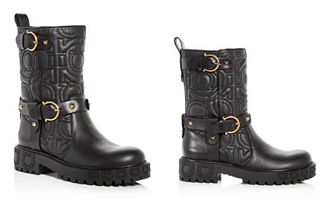 Salvatore Ferragamo Women's Bormio Quilted Leather Moto Boots - Bloomingdale's_2