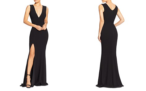 Dress the Population Sandra V-Neck Side-Slit Gown - Bloomingdale's_2