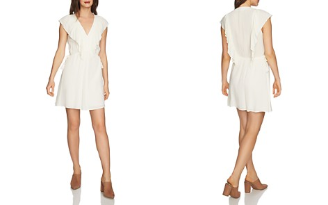 1.STATE Ruffle-Trim V-Neck Dress - Bloomingdale's_2