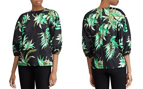 Lauren Ralph Lauren Cotton Sateen Tropical-Print Puff-Sleeve Top - Bloomingdale's_2