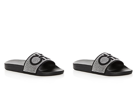 Salvatore Ferragamo Women's Groove Studded Pool Slide Sandals - Bloomingdale's_2