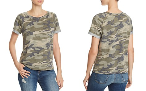 AQUA Cuffed Camo Tee - 100% Exclusive - Bloomingdale's_2