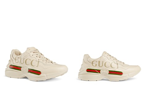 Gucci Women's Rhyton Leather Logo Sneakers - Bloomingdale's_2