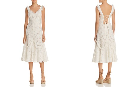 Rebecca Taylor Adriana Lace Midi Dress - Bloomingdale's_2