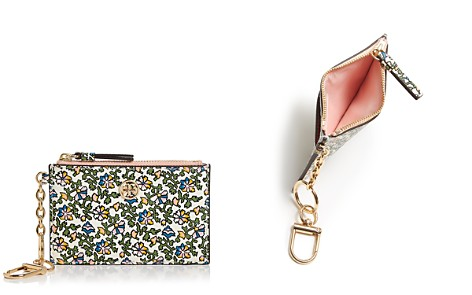 Tory Burch Robinson Floral Leather Card Case & Key Fob - Bloomingdale's_2