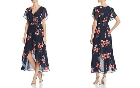AQUA Floral High/Low Faux-Wrap Dress - 100% Exclusive - Bloomingdale's_2