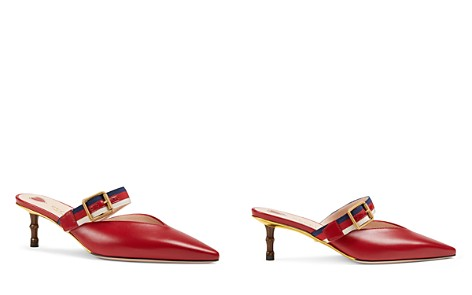 Gucci Women's Unia Leather Mules - Bloomingdale's_2