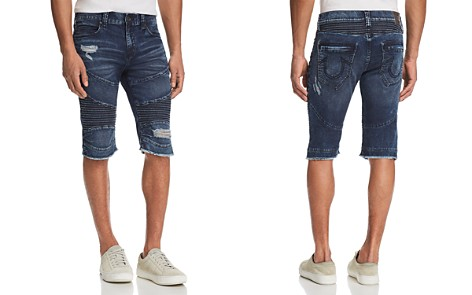 True Religion Geno Slim Straight Fit Moto Shorts - Bloomingdale's_2