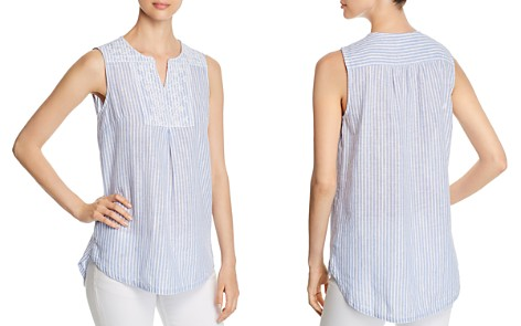 BeachLunchLounge Embroidered Stripe Top - Bloomingdale's_2