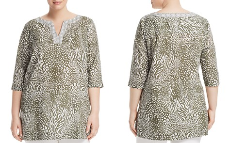 Foxcroft Plus Toni Animal-Print Tunic - Bloomingdale's_2