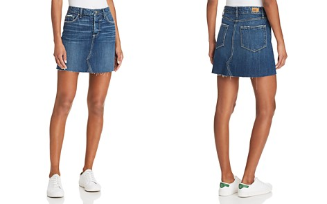 PAIGE Aideen Denim Skirt in Valeria - Bloomingdale's_2