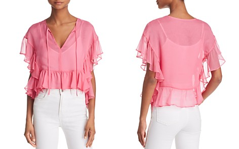 Bailey 44 Go With The Flow Ruffled Silk Top - Bloomingdale's_2