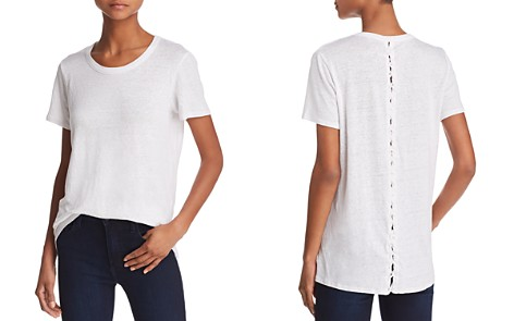 CHASER Lace-Up Back Tee - Bloomingdale's_2