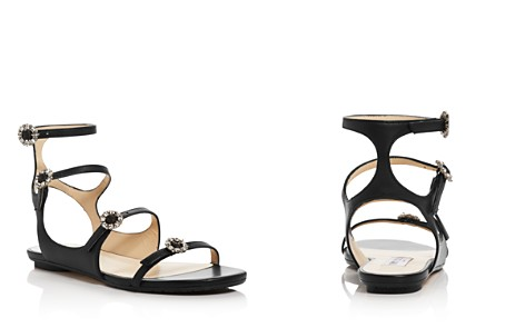 Jimmy Choo Women's Naia Embellished Leather Flat Sandals - Bloomingdale's_2