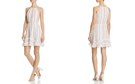 AQUA Striped Voile Fit-and-Flare Dress - 100% Exclusive - Bloomingdale's_2