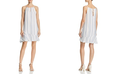 AQUA Striped Voile Shift Dress - 100% Exclusive - Bloomingdale's_2