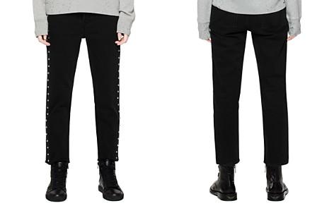 Zadig & Voltaire Elios Spikes Boyfriend Jeans in Noir - Bloomingdale's_2