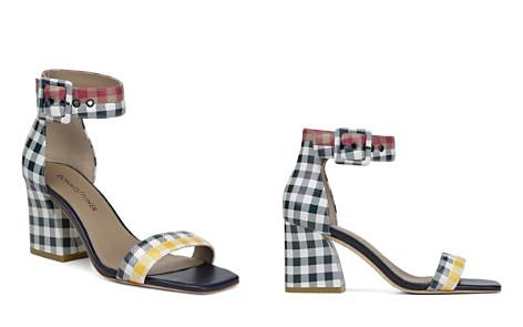 Donald Pliner Women's Watson Gingham-Print Color-Block Leather Block Heel Sandals - Bloomingdale's_2