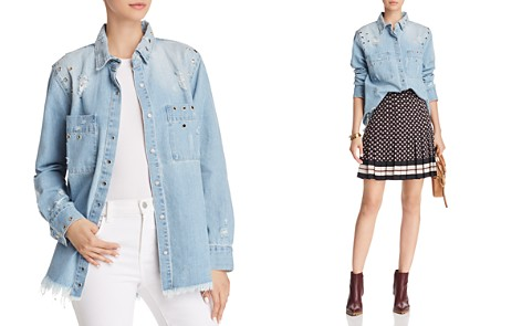Kenzie Grommet Denim Shirt Jacket - Bloomingdale's_2
