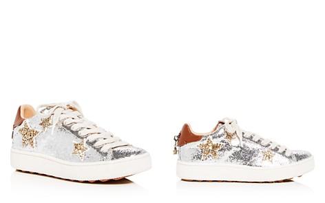COACH Women's C1010 Star Glitter Lace Up Platform Sneakers - Bloomingdale's_2
