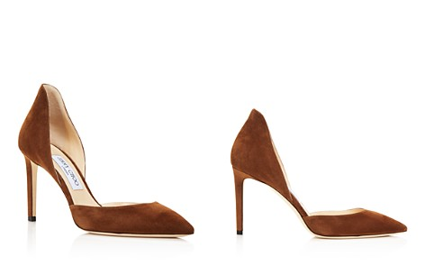Jimmy Choo Women's Liz 85 Suede d'Orsay High-Heel Pumps - Bloomingdale's_2